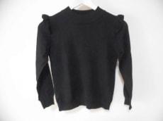 マーリエ 長袖セーター サイズ9 M レディース美品  黒 フリル