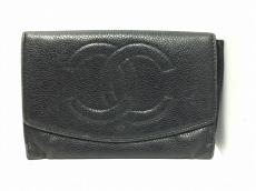 CHANEL(シャネル) 財布 キャビアスキン 黒 キャビアスキン