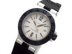 ブルガリ 腕時計 アルミニウム AL29TA レディース ラバーベルト 白