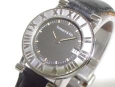 ティファニー 腕時計美品  アトラスラウンド 13579903 レディース 黒