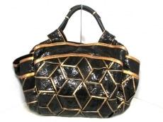 LOEWE(ロエベ) ハンドバッグ美品  ナッパアイレ 黒×ゴールド レザー