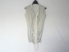 サカイ ノースリーブセーター サイズ2 M レディース グレー×白