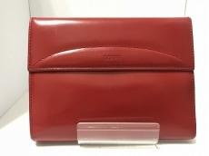 LOEWE(ロエベ) 2つ折り財布 - レッド ラウンドファスナー レザー