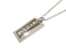 ブルガリ ネックレス美品  インゴット K18WG×ダイヤモンド 1Pダイヤ