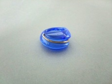 Baccarat(バカラ) リング クリスタルガラス×K18YG ブルー
