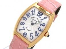 フランクミュラー 腕時計 トノーカーベックス サンセット 1752QZ 白