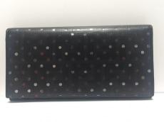 FENDI(フェンディ) 長財布 - 8M0000 黒×シルバー×レッド ドット柄