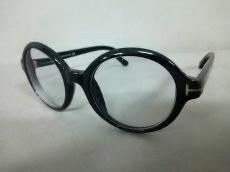 トムフォード メガネ 48 20 145美品  TF199 黒×クリア 度入り