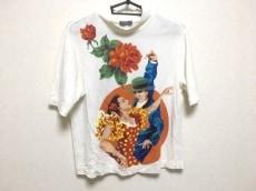 トクコ・プルミエヴォル 半袖カットソー レディース美品  白×マルチ