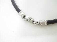 BVLGARI(ブルガリ) チョーカー美品  - レザー×金属素材 黒