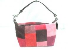 COACH(コーチ) ハンドバッグ - - ピンク×ボルドー×マルチ
