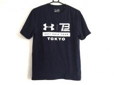 アンダーアーマー 半袖Tシャツ メンズ ネイビー×白 heatgear