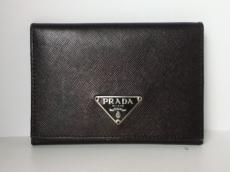 PRADA(プラダ) カードケース - 黒 レザー
