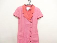 シャネル コート サイズ38 M レディース美品  ピンク×オレンジ
