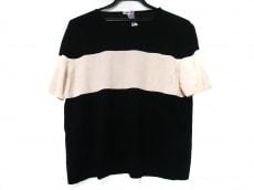 HERMES(エルメス) 半袖セーター レディース美品  黒×アイボリー