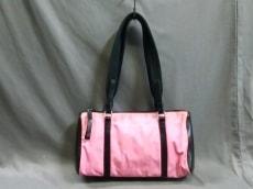 プラダ ショルダーバッグ - ピンク×黒 ミニサイズ ナイロン×レザー