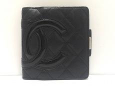 CHANEL(シャネル) 2つ折り財布 カンボンライン 黒 ココマーク/がま口