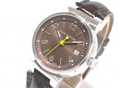ヴィトン 腕時計 タンブール Q12111 レディース SS ダークブラウン