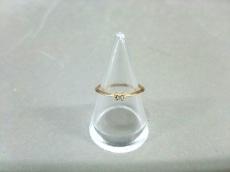 ete(エテ) リング美品  K10YG×ダイヤモンド 1Pダイヤ