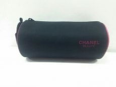 CHANEL(シャネル) ポーチ新品同様  - 黒×ピンク BEAUTE 化学繊維