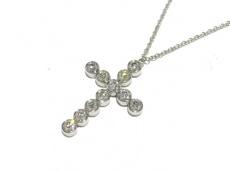 ティファニー ネックレス美品  ジャズ クロス Pt950×ダイヤモンド
