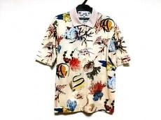エルメス 半袖ポロシャツ サイズS レディース ベージュ×マルチ