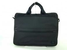 ポーター ビジネスバッグ - 黒 PVC(塩化ビニール)×ナイロン×レザー