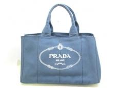PRADA(プラダ) トートバッグ美品  CANAPA B1872B ブルー キャンバス