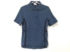 HERMES(エルメス) 半袖ポロシャツ レディース ネイビー×黒
