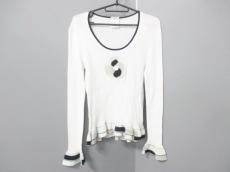 シャネル 長袖セーター サイズ44 L レディース 白×黒×マルチ