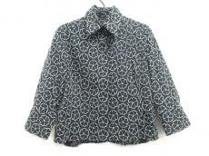 シャネル ジャケット サイズ42 L レディース 黒×白 刺繍/フラワー