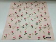 Burberry(バーバリー) ハンカチ美品  ピンク×グリーン×マルチ 花柄