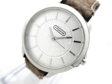 コーチ 腕時計美品  ミニシグネチャー柄 CA.13.7.14.0614 レディース