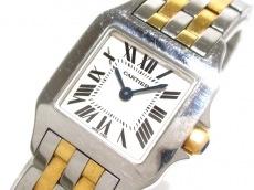 カルティエ 腕時計 サントスドゥモワゼルSM W25066Z6 レディース 白