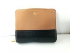CELINE(セリーヌ) 2つ折り財布 - ブラウン×黒 バイカラー レザー