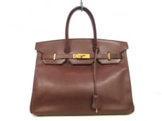 HERMES(エルメス) ハンドバッグ バーキン35 ブラウン ゴールド金具