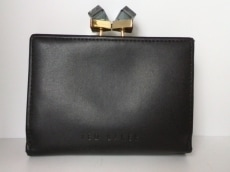 TED BAKER(テッドベイカー) 2つ折り財布 黒 がま口 レザー