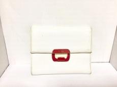 PRADA(プラダ) 3つ折り財布 - 1M0170 白×ピンク レザー