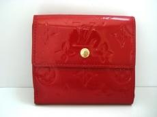 ルイヴィトン Wホック財布 モノグラムヴェルニ M91982 ポムダムール