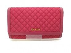 PRADA(プラダ) 財布 - 1M1437 レッド キルティング ナイロン×レザー