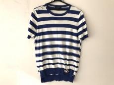 ルイヴィトン 半袖カットソー サイズS レディース 白×ブルー