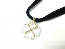 バカラ チョーカー美品  クリスタルガラス×K18YG×化学繊維
