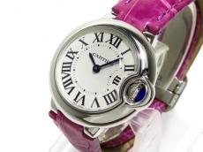 カルティエ 腕時計 バロンブルーSM W69018Z4 レディース シルバー