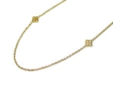ルイヴィトン ネックレス モノグラム美品  M68126 金属素材 ゴールド