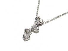 PonteVecchio(ポンテヴェキオ) ネックレス美品  K18WG×ダイヤモンド