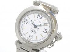 カルティエ 腕時計 パシャCビッグデイト W31044M7 ボーイズ SS 白