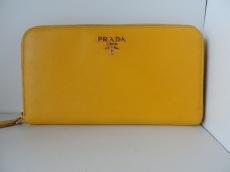 PRADA(プラダ) 長財布 - イエロー ラウンドファスナー レザー
