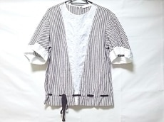 シーバイクロエ 半袖カットソー レディース美品  白×ボルドー