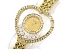 ショパール 腕時計美品  ハッピーダイヤモンド 20/4502 レディース