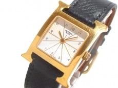 エルメス 腕時計 Hウォッチ HH1.201 レディース 革ベルト/□A 白